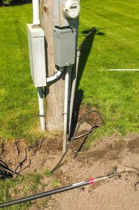 Electrical equipment on telephone pole